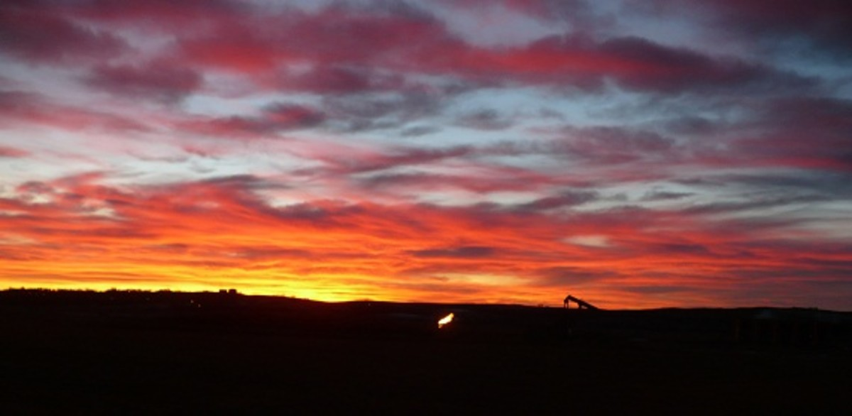 North Dakota sunset near Watford City