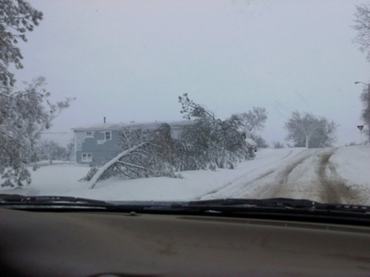 Nasty blizzards can occur as late as April as this one did on April 30, 2011 in Watford City.