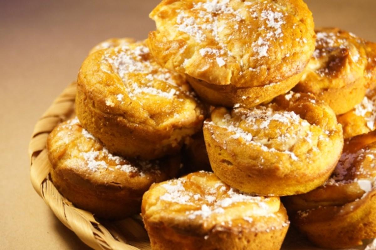 Delicious pumpkin cream cheese muffins