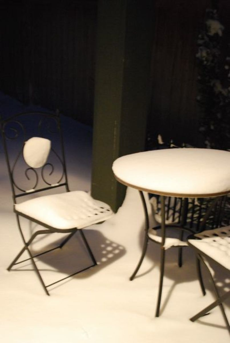 Patio furniture left out into winter!