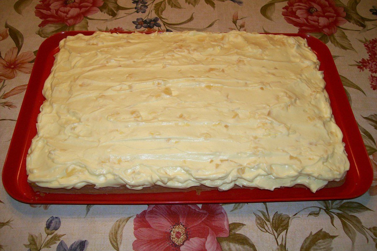 Just a side view of cake with second layer.