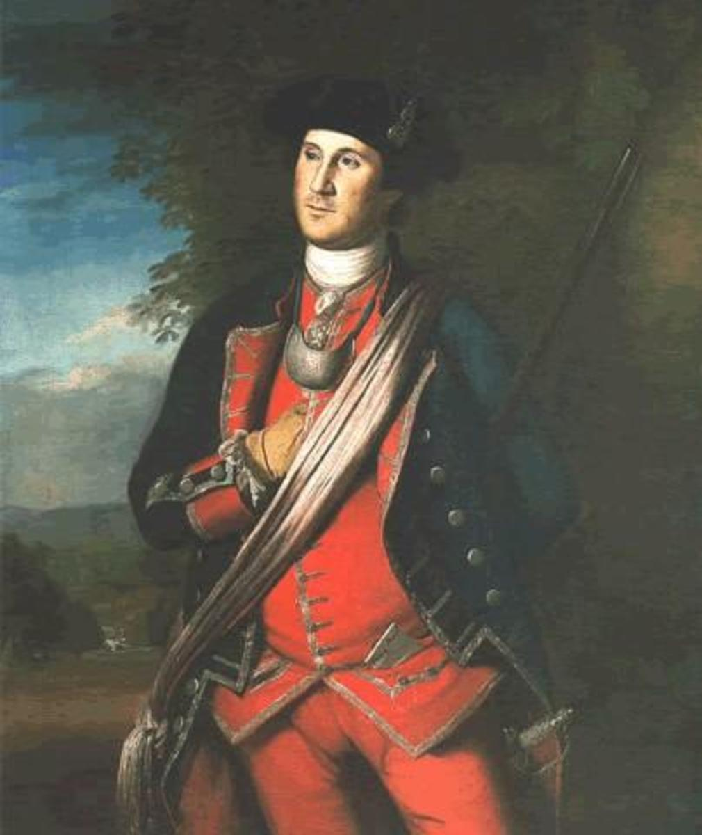 George Washington as a Lt Colonel in Virginia Colonial Militia during French & Indian War ( Image courtesy of WikiPedia.org  http://en.wikipedia.org/wiki/File:Washington_1772.jpg)