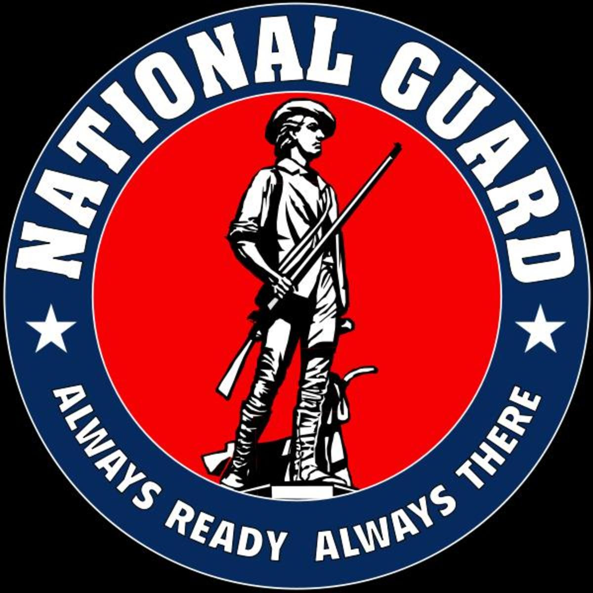 National Guard Logo (Public Domain image courtesy of WikiPedia.org  http://en.wikipedia.org/wiki/File:National_Guard_Logo.svg)