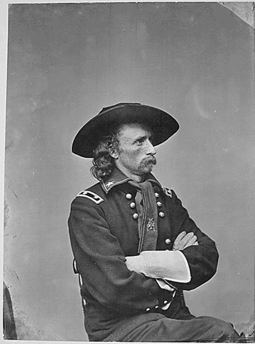 General George Armstrong Custer (Photo courtesy of U.S. National Archives  http://arcweb.archives.gov/arc/action/ExternalIdSearch?id=558719&jScript=true)