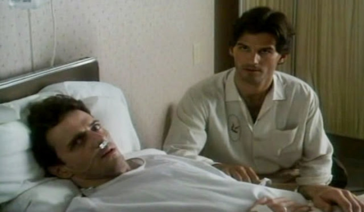 Michael (Adian Quinn) and Peter (D.W. Moffett) learn that Michael has AIDS