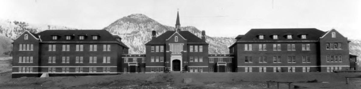 Kkamloops Residential School.  Photograph taken -- 1930.