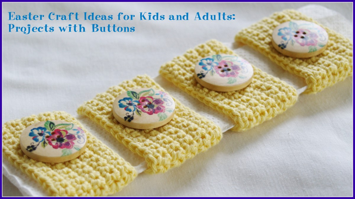 Easter craft ideas for kids and adults projects with buttons for Button crafts for adults
