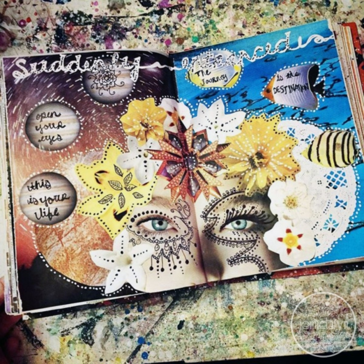 A collection of art journal pages to inspire you.