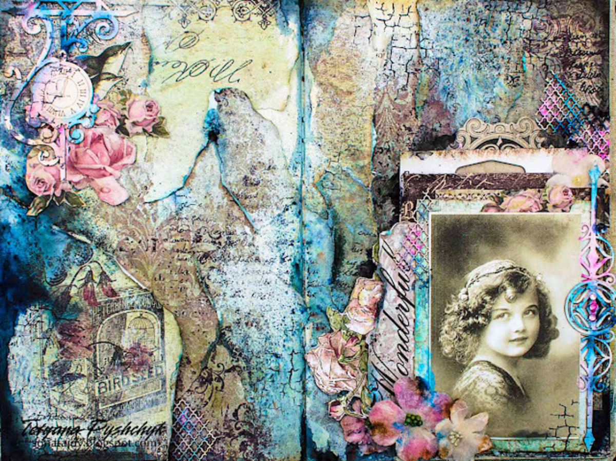 A tutorial on mixed media art journal pages