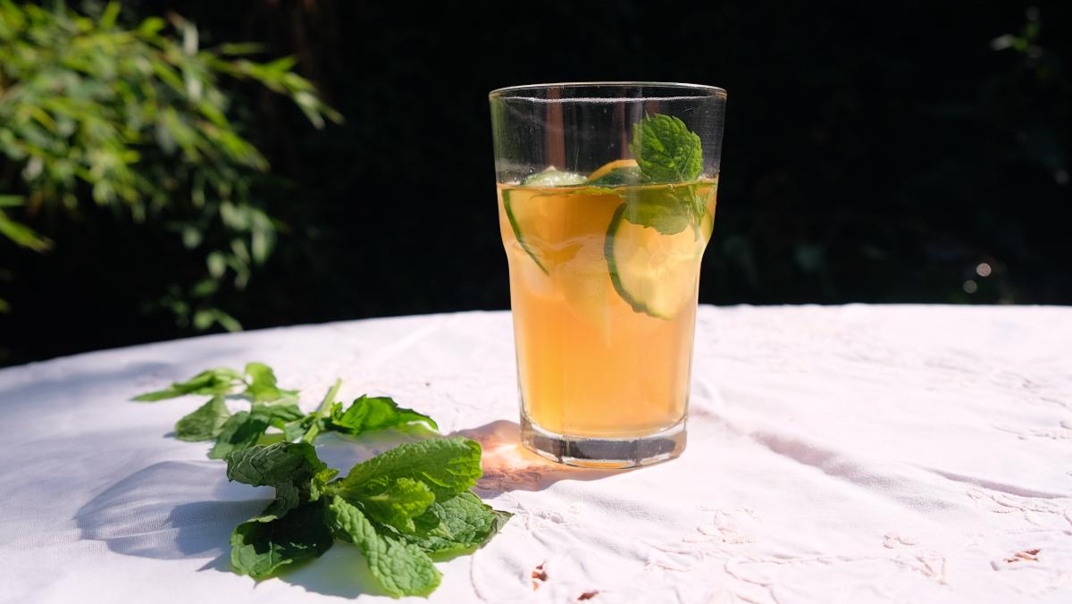 Vegan iced tea makes a great mocktail