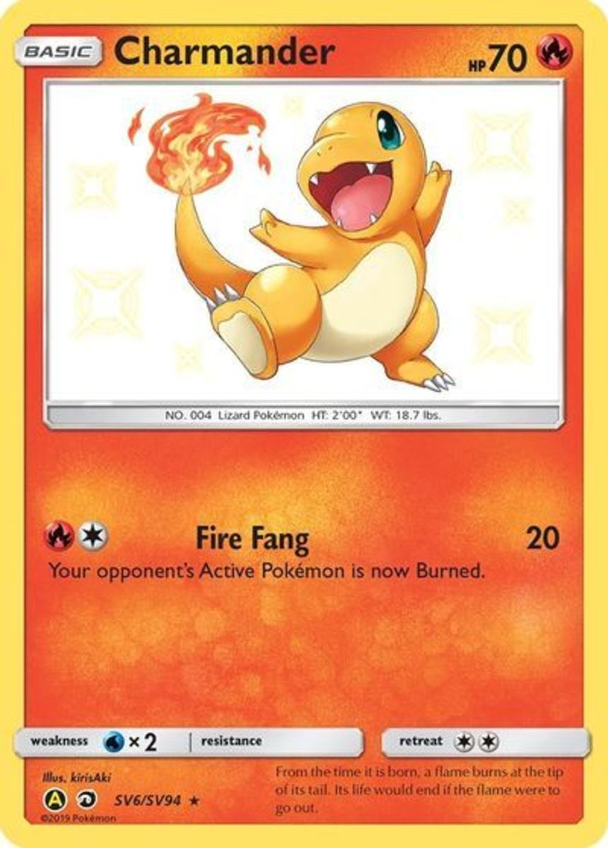 """Charmander from Hidden Fates is one of the more expensive cards from the """"Shiny Vault"""" collection at roughly $25 per card."""