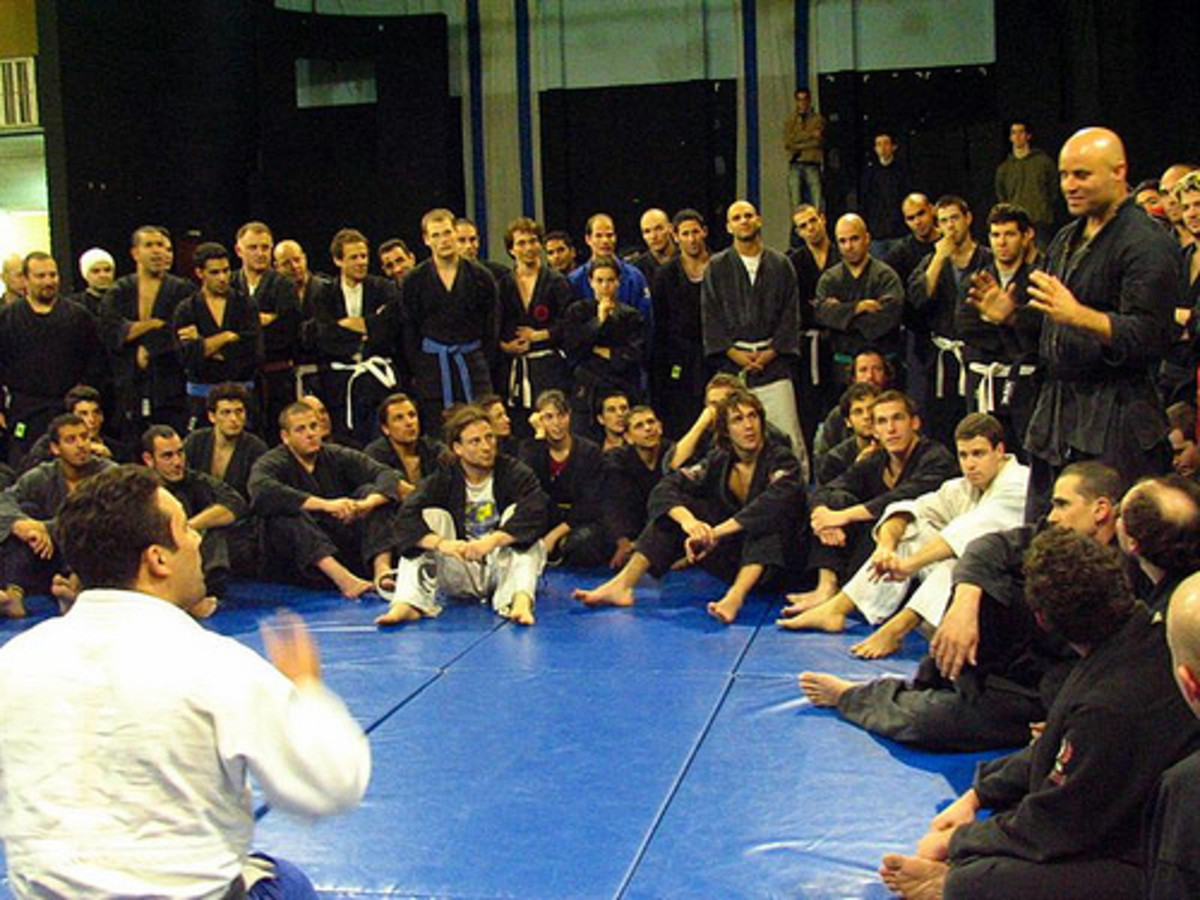 Ninjutsu students at the Akban academy