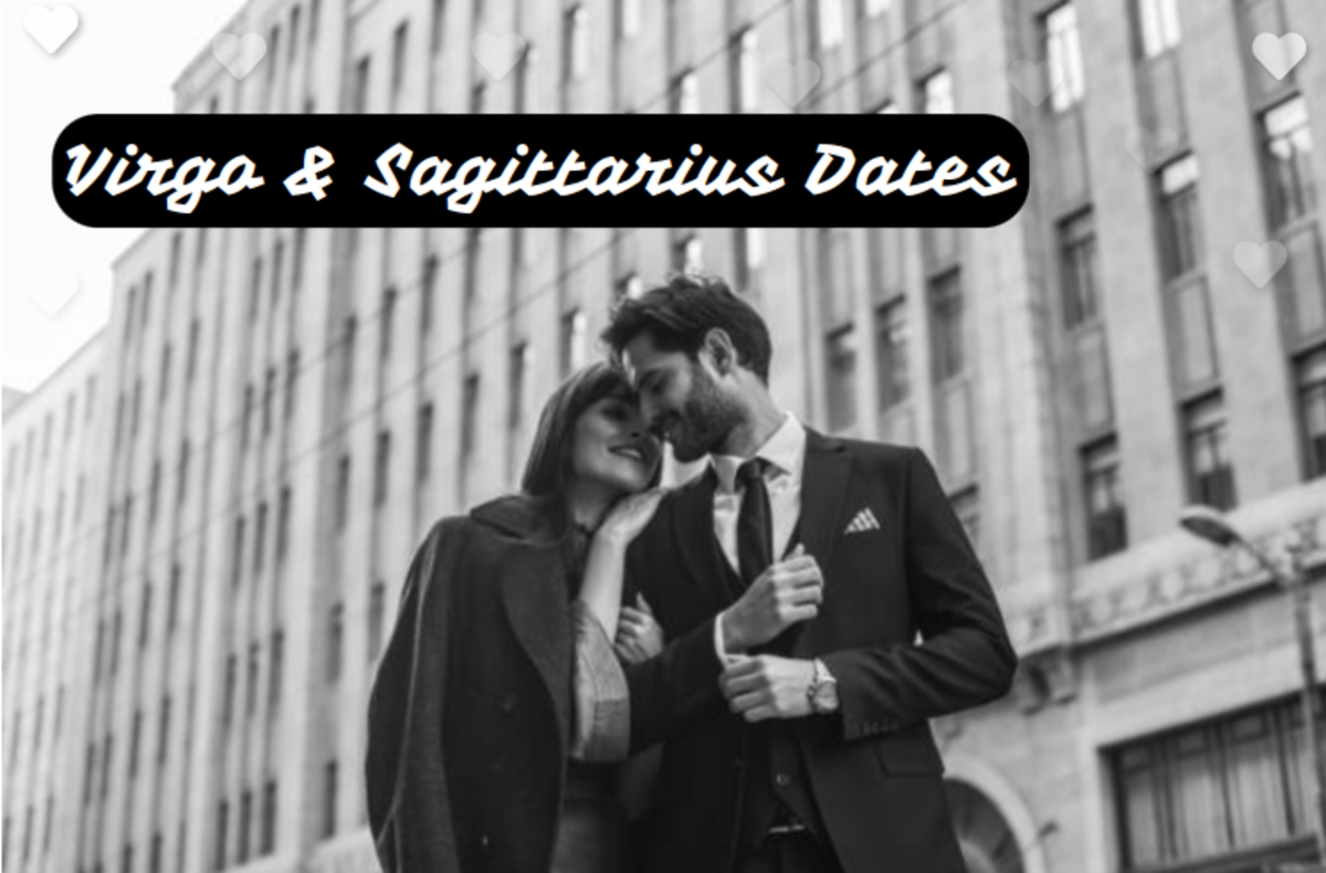 Virgo and Sagittarius date ideas: (1) go on a picnic together in a beautiful vista, (2) go to a festival whether for food or music, (3) ride bikes together, (4) cook a fantastic meal together, (5) hit up the trendy places in town.