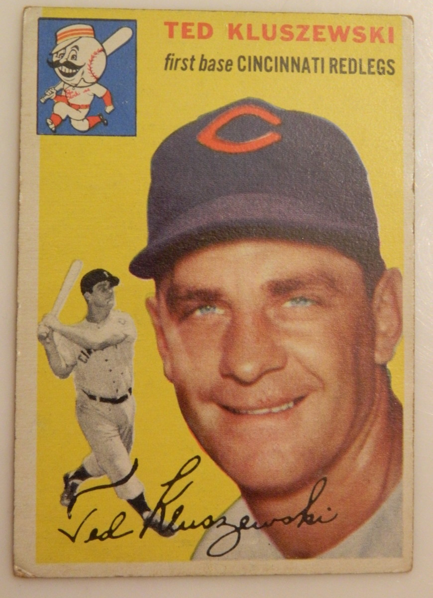Santa Claus brought this1954 Topps Ted Kluszewski for my daughter this Christmas.