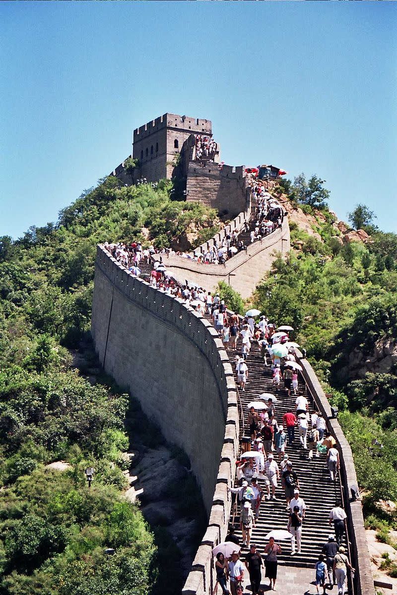 The Great Wall of China is one of the most popular tourist destinations in China, receiving millions of visitors every year. It is an UNESCO World Heritage Site.