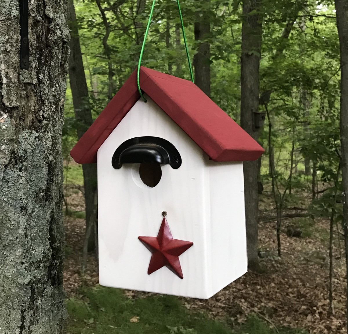 Front view of the birdhouse.