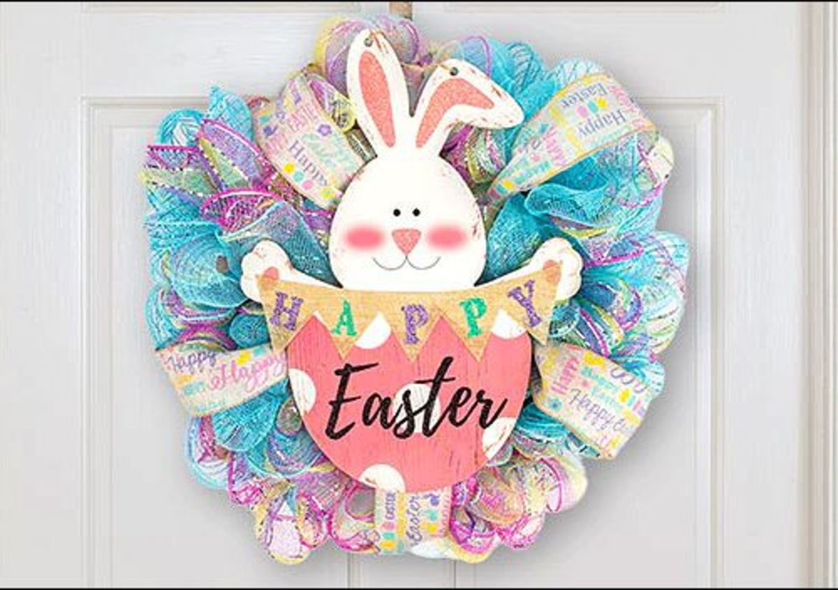 Eggciting Easter Wreath