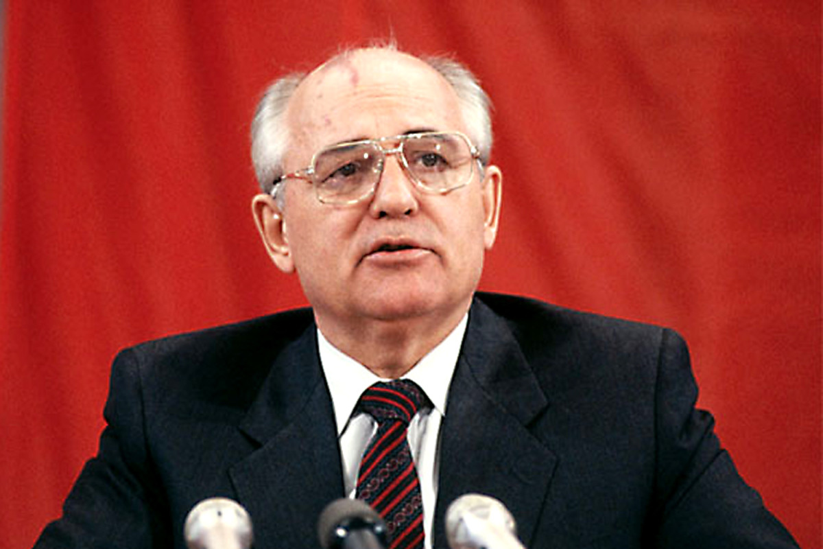 1991. Mikhail Gorbachev. For all the power of the Soviet Union, the moment an enlightened leader relaxed a few rigid controls, the whole communist Eastern bloc collapsed like a pack of cards, including the Soviet Union itself