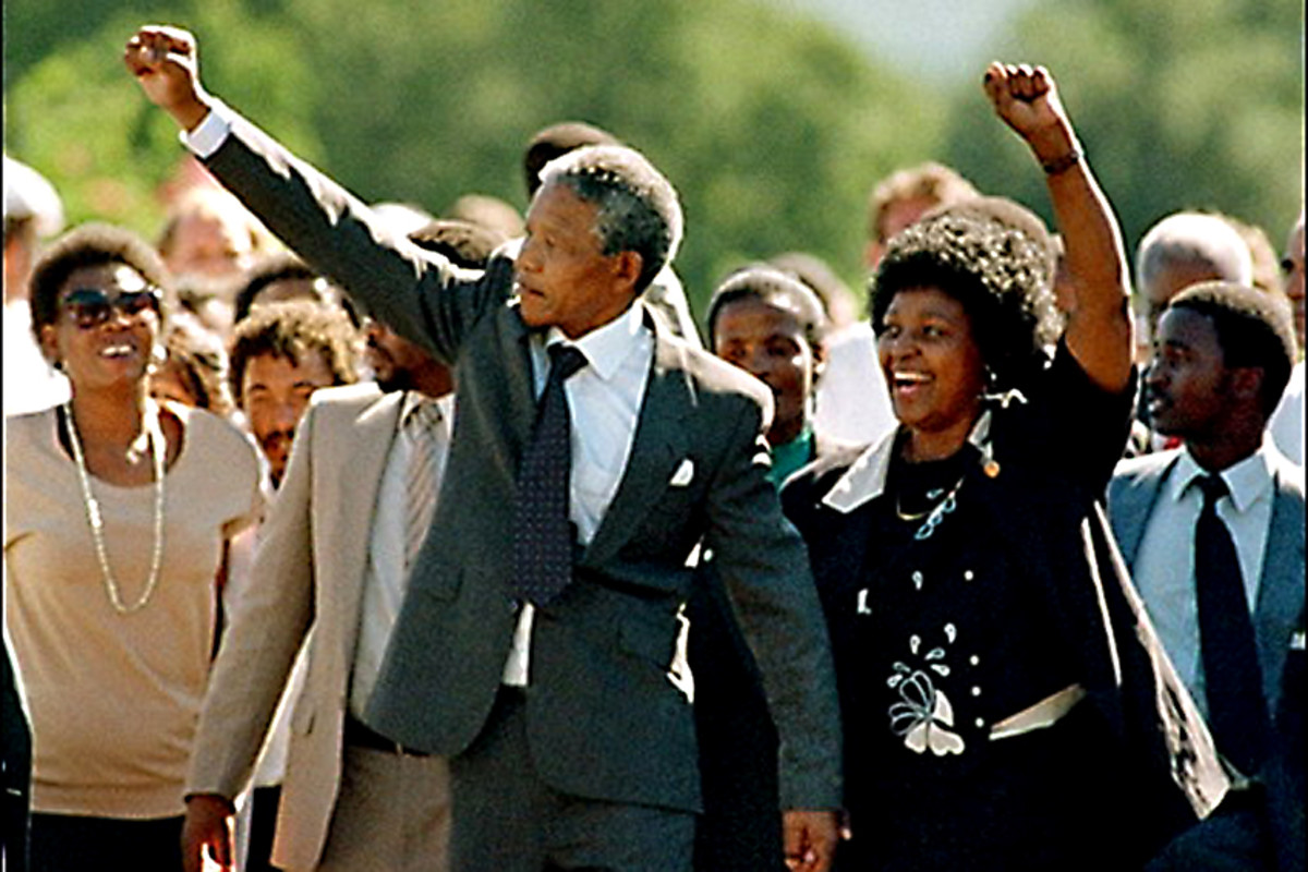 1990. South Africa's white minority could not have realistically hoped to hold on to its power, when democratic rights were denied to the black majority. Nelson Mandela was released from prison on 11th February