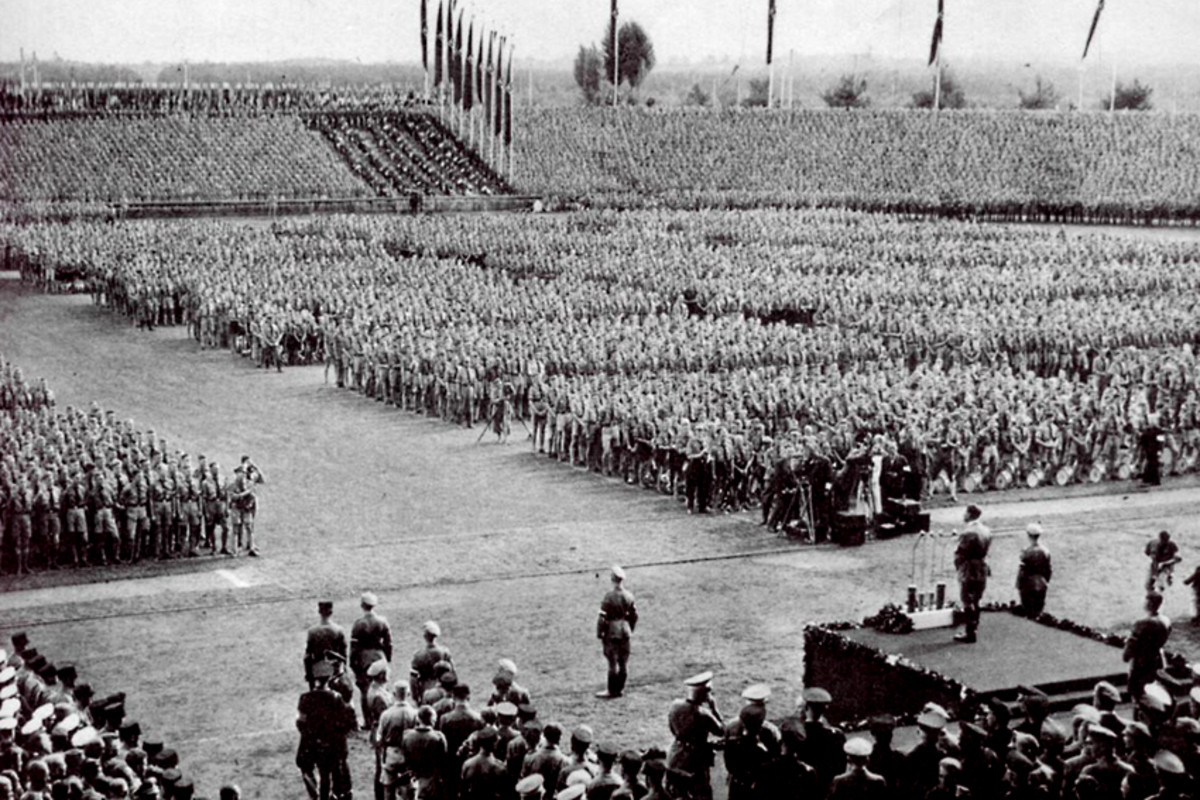 A Nuremburg rally in 1934. In a tortured nation, Adolf Hitler at one time undoubtably had popular support from people who did not think too deeply about the meaning and consequences which lay behind the rhetoric