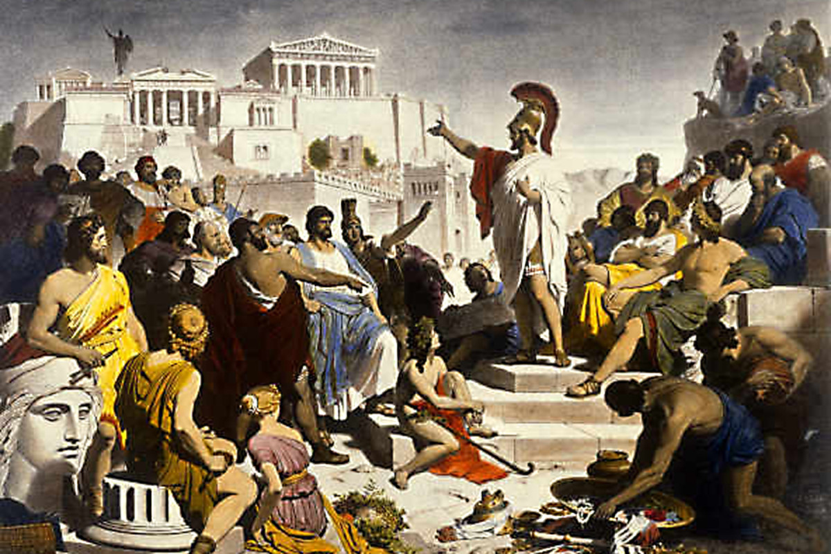 Athenian democracy was limited, but gave some freedom of expression to ordinary citizens - unheard of in most ancient societies