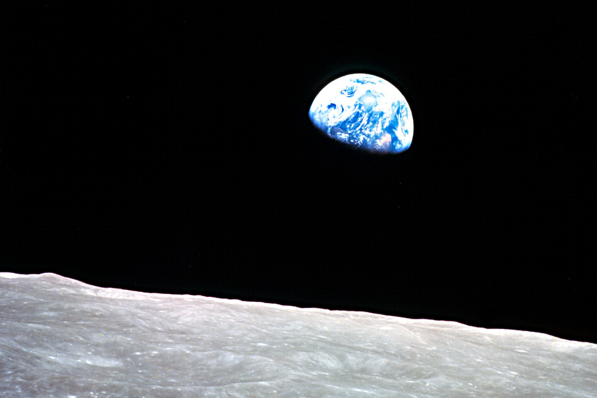 The fragile beauty of Earth, suspended in space