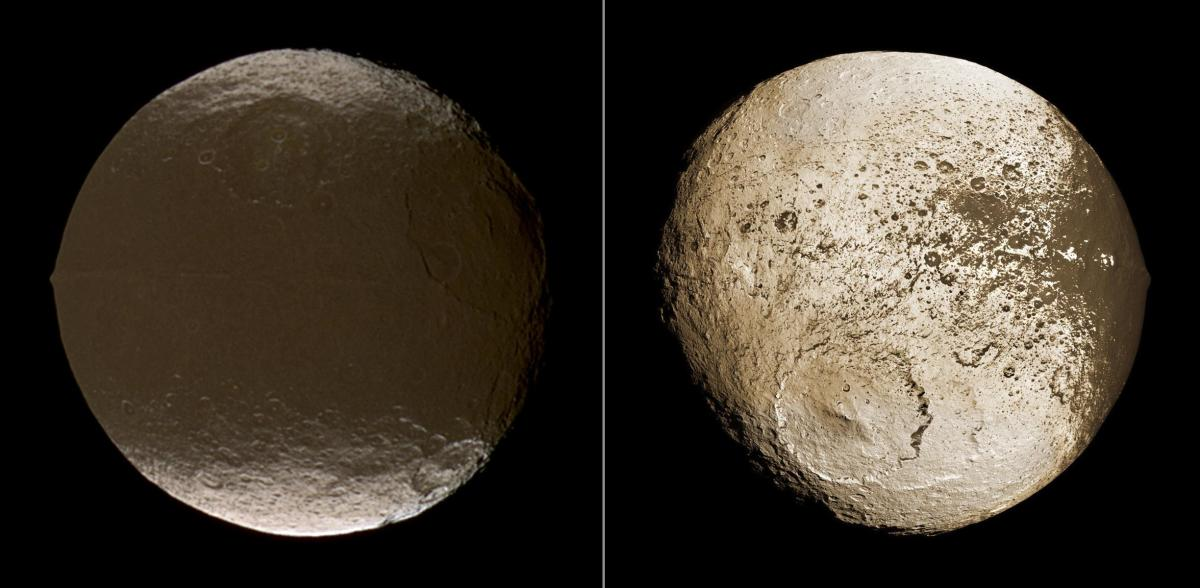 The dark and light faces of Iapetus