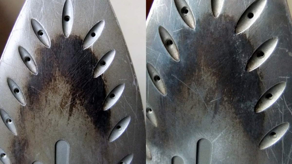 Using aluminum foil, to remove starch build up. From the Before (left) and After (right) photos, you can see that there's no  improvement