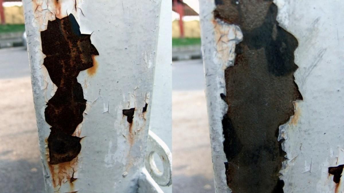 Aluminum foil to remove rust