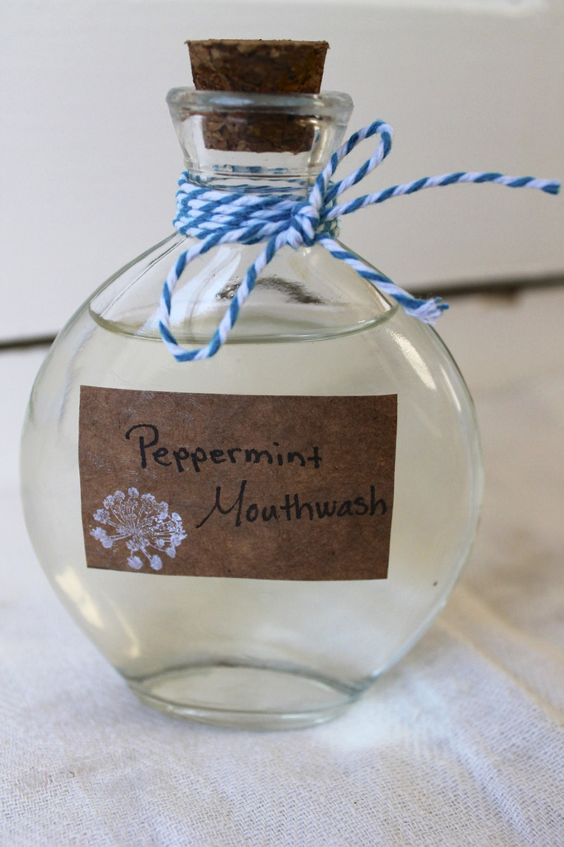 quick and easy non toxic peppermint mouthwash.check out the video easy homemade mouthwash to see how!
