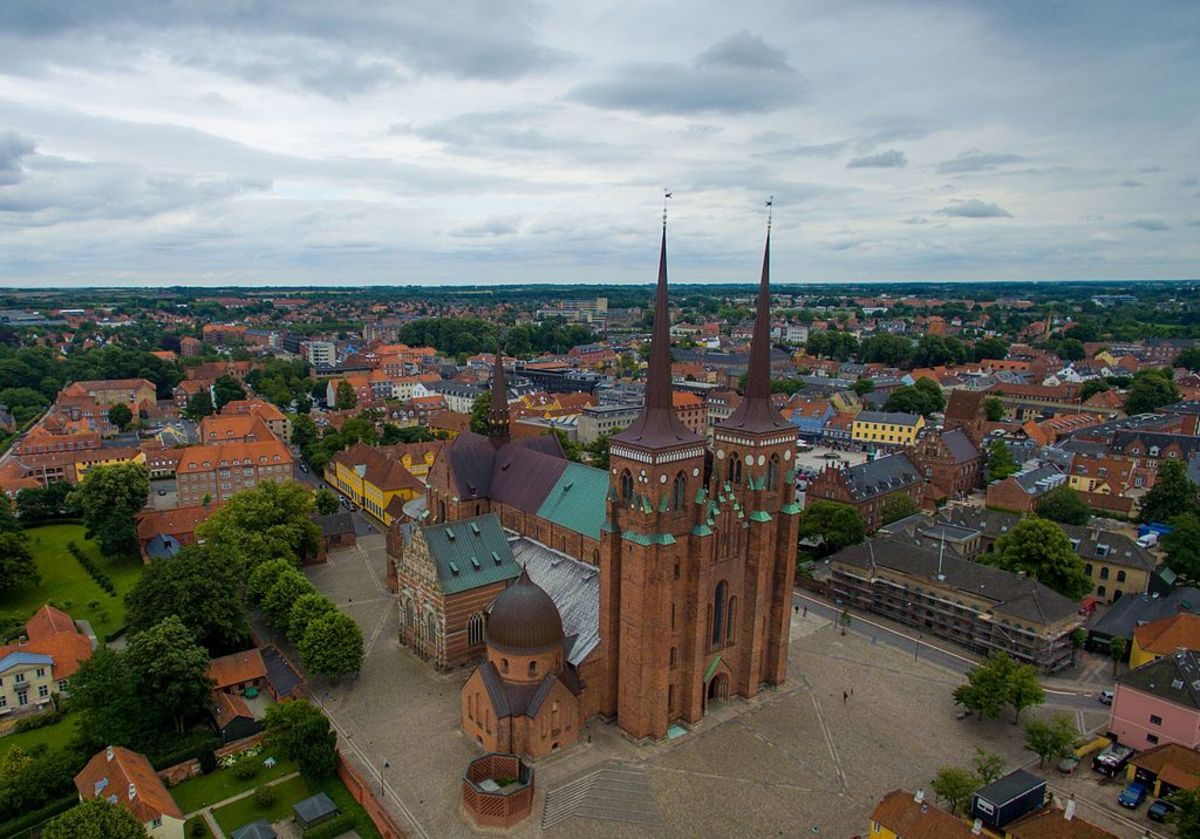 Roskilde Cathedral, Denmark where royals have been laid to rest for centuries.