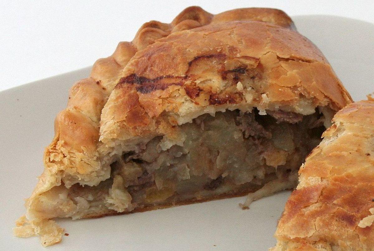 The quintessentially Cornish pasty.