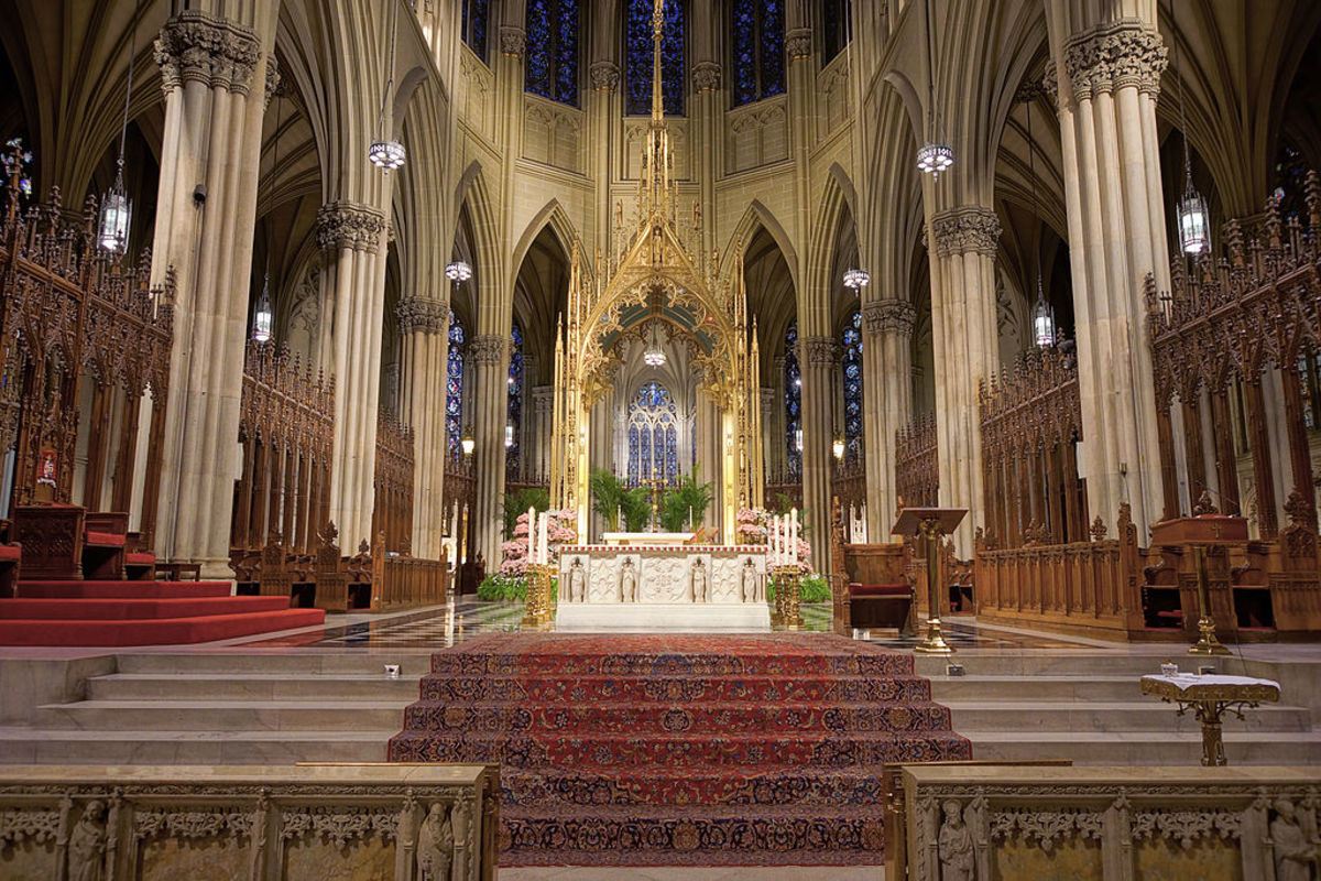 Inside St. Patrick's Cathedral, New York