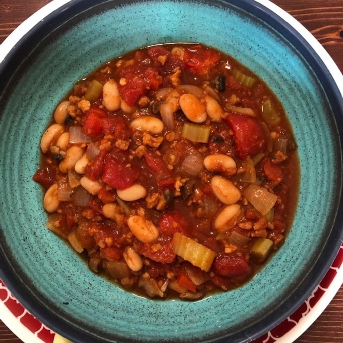Yummy and chunky vegan chili