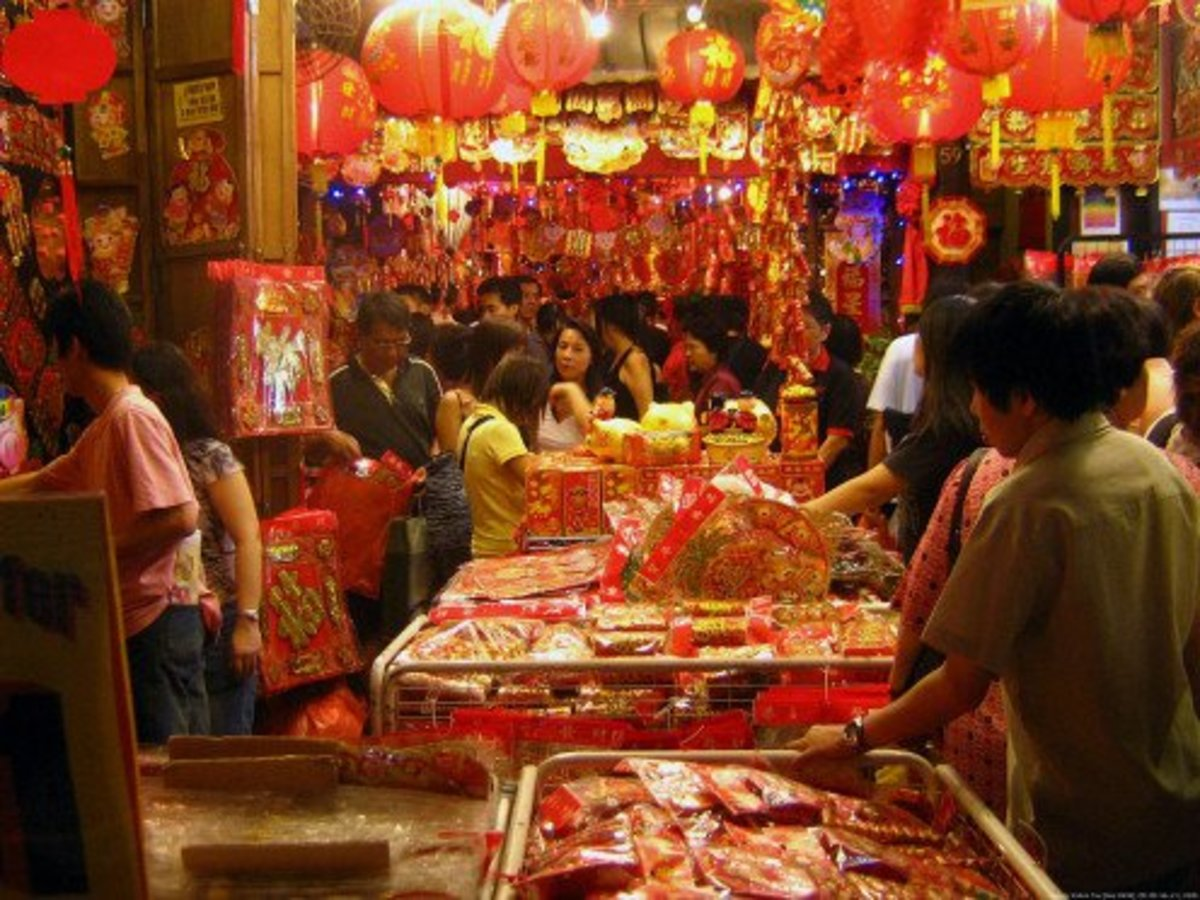 Shoppers during the Chinese New Year holidays