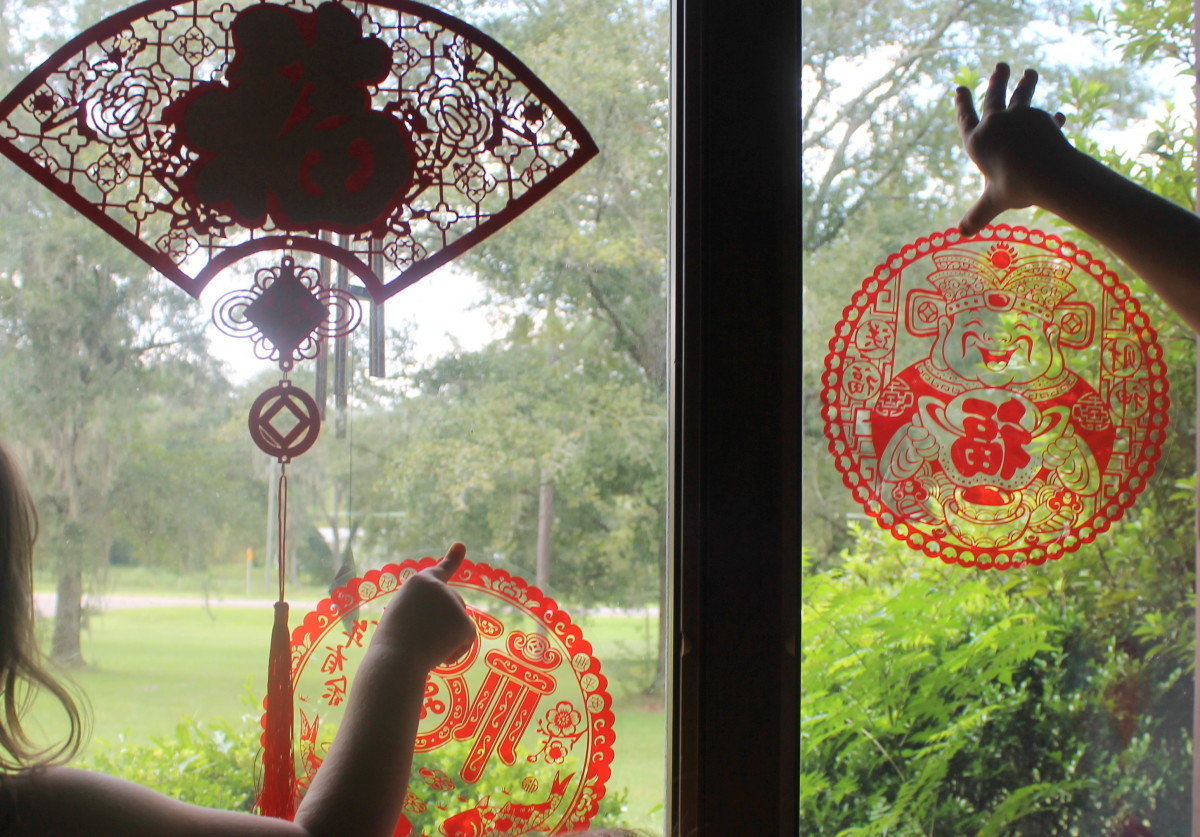 Decorating for Chinese New Year