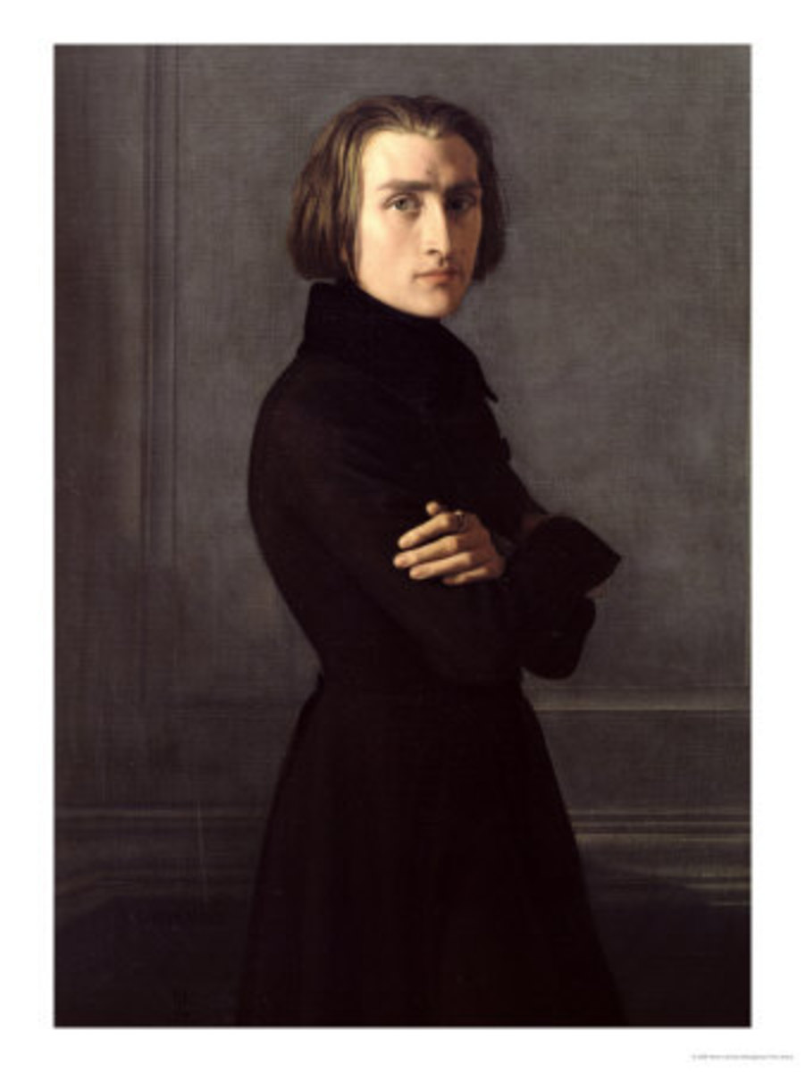 Portrait of Franz Liszt 1839