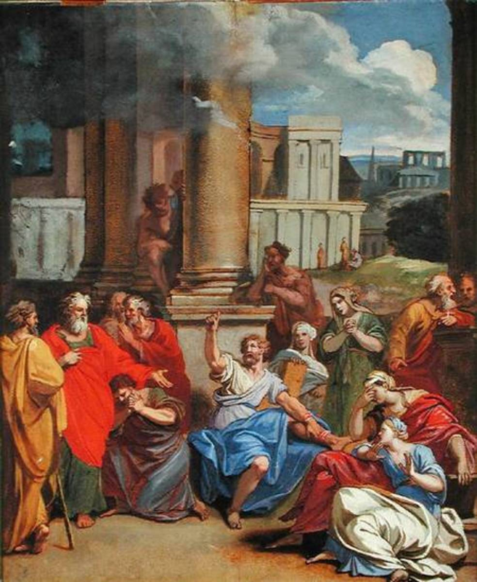 The Prophet Agabus Predicting St. Paul's Suffering in Jerusalem / Louis Cheron (1660-1715)