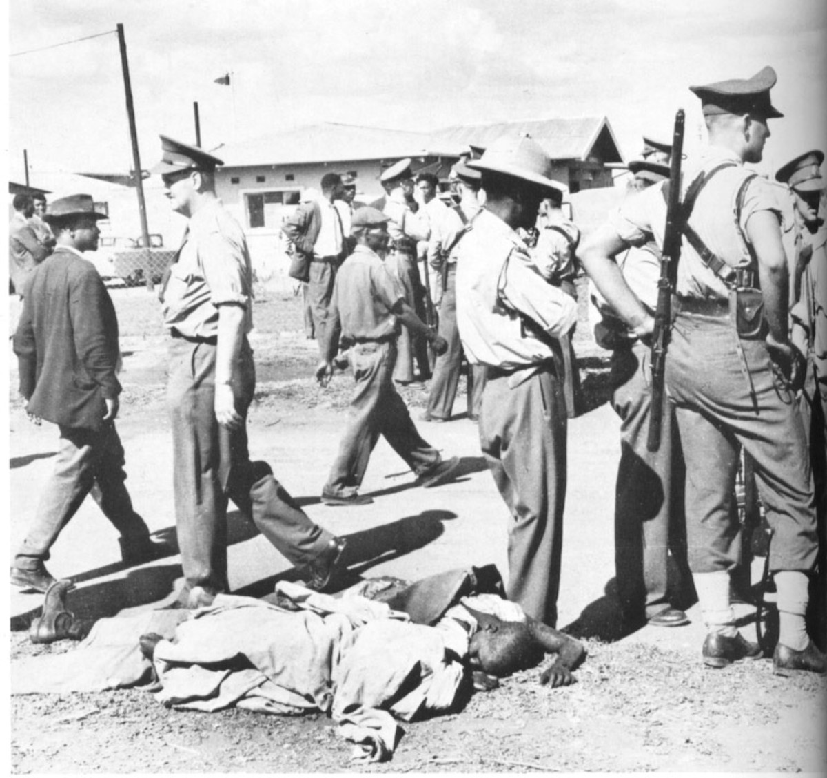 Aftermath of the Sharpeville massacre. 21 March 1960