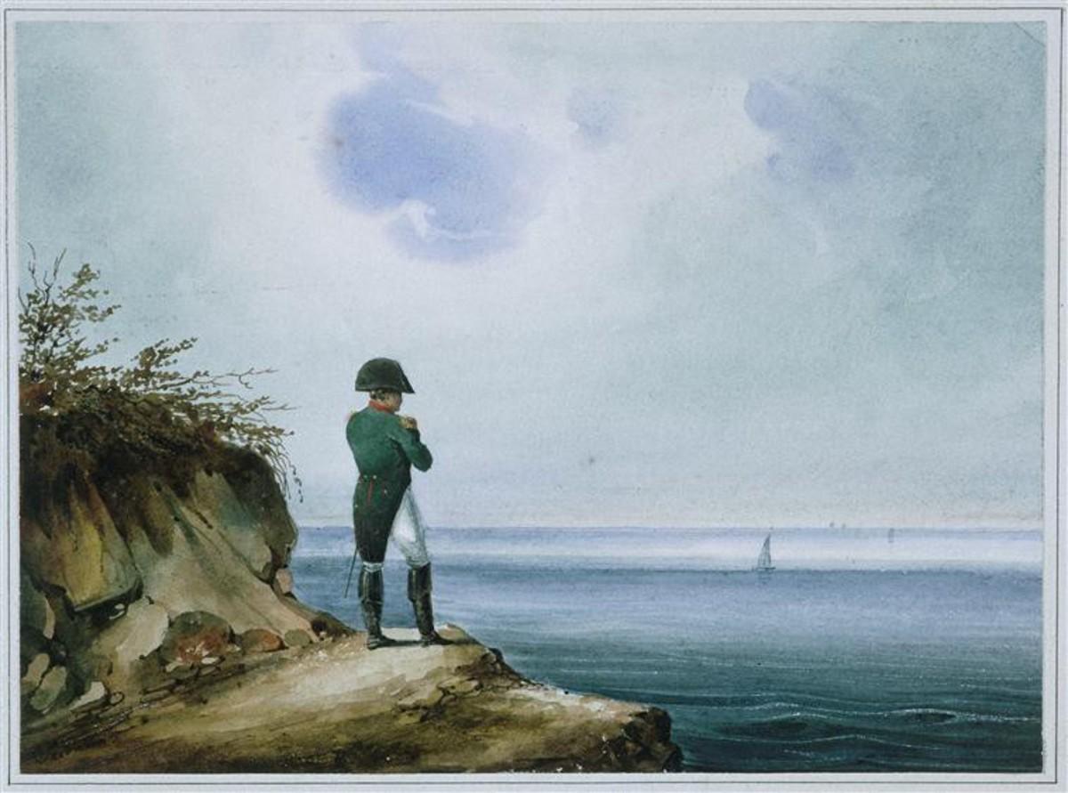 Napoleon on Saint Helena, watercolor by Franz Josef Sandmann, c. 1820
