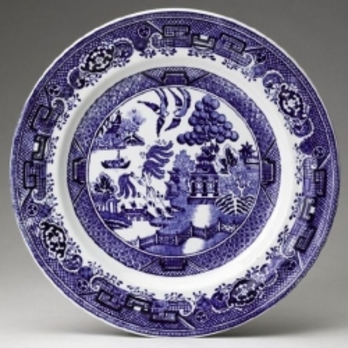 Plate with Willow pattern