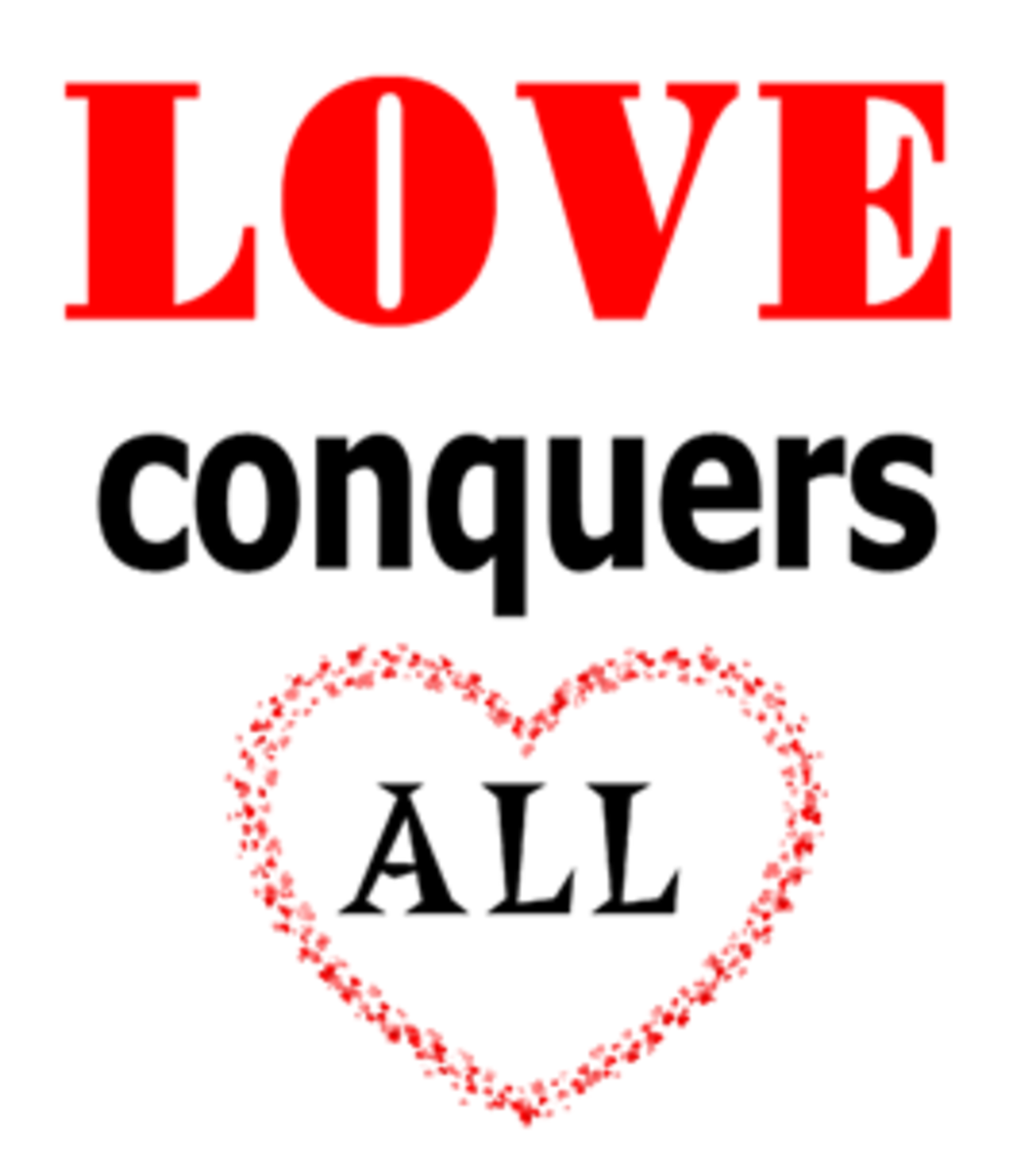 Love Conquers All Poster (created by author)