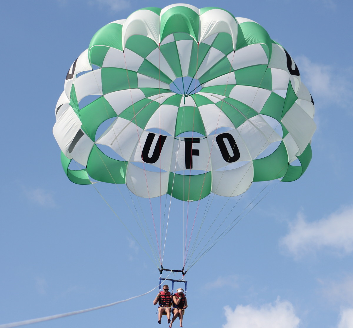 UFO Parasailing in Kona, Hawaii.
