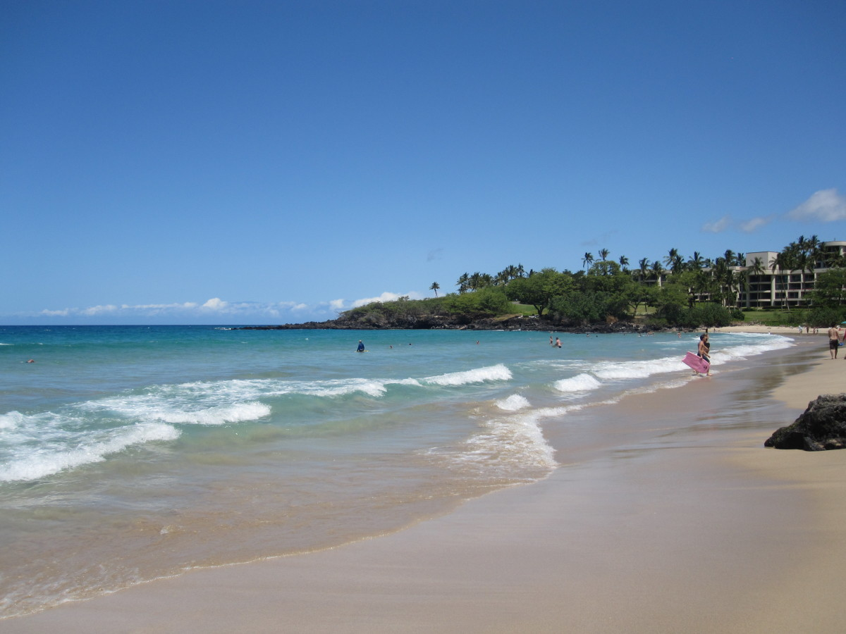 Hapuna Beach State Park in Hawaii.