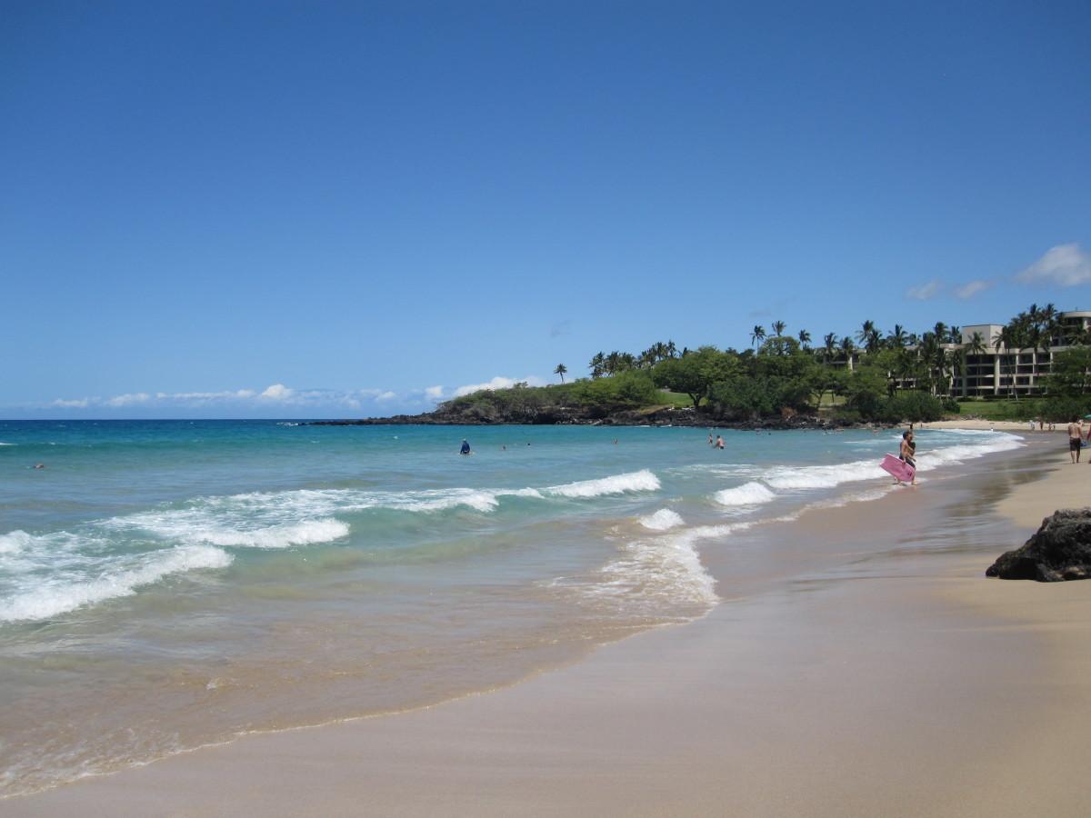 Hapuna Beach State Park in Hawaii.