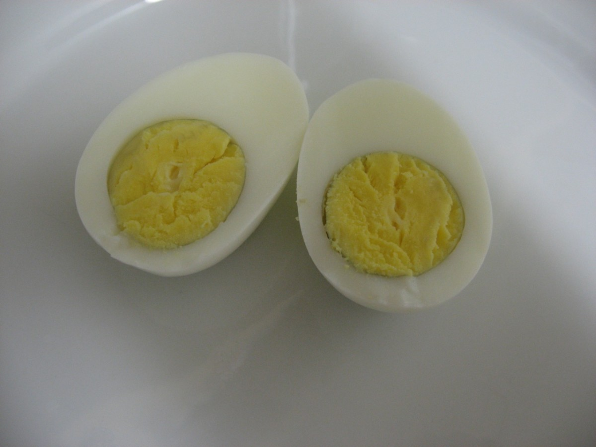 Some methods of easily peeling a hard boiled egg begin at the narrow end, while others begin at the wide end.