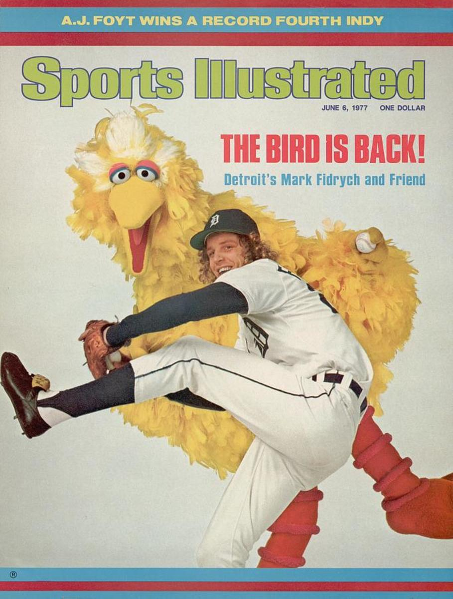One of the many magazine covers Fidrych appeared on