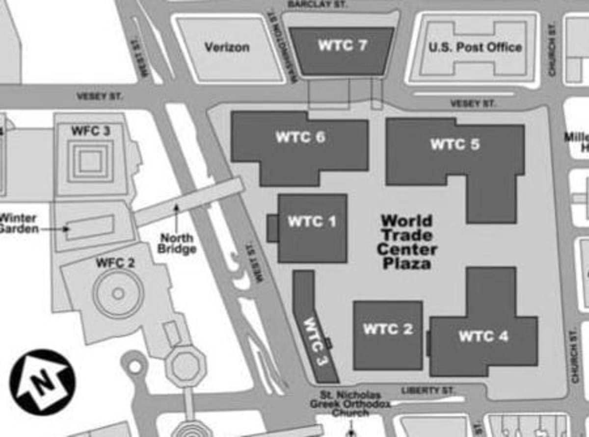 WTC Site Plan on 9-11