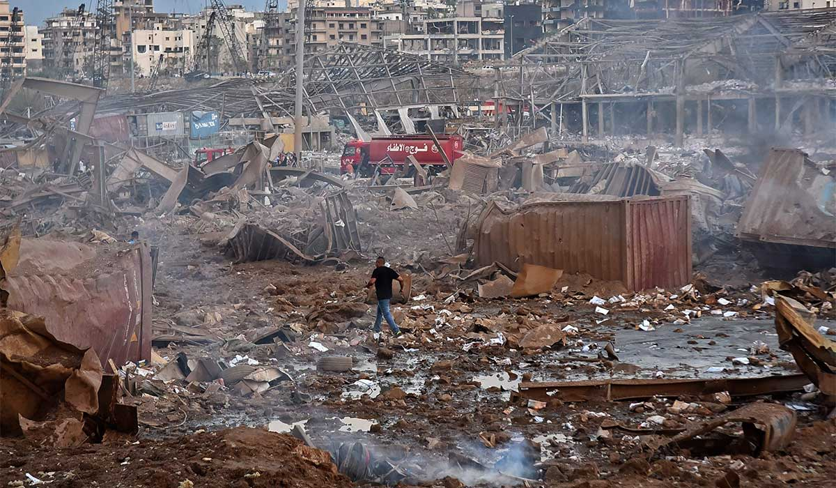 The explosion has even damaged building far away from the port, so much so that about 300,000 people now have completely lost their homes, or they have become inhabitable from the blast. If you look closely you will see the buildings with no windows.