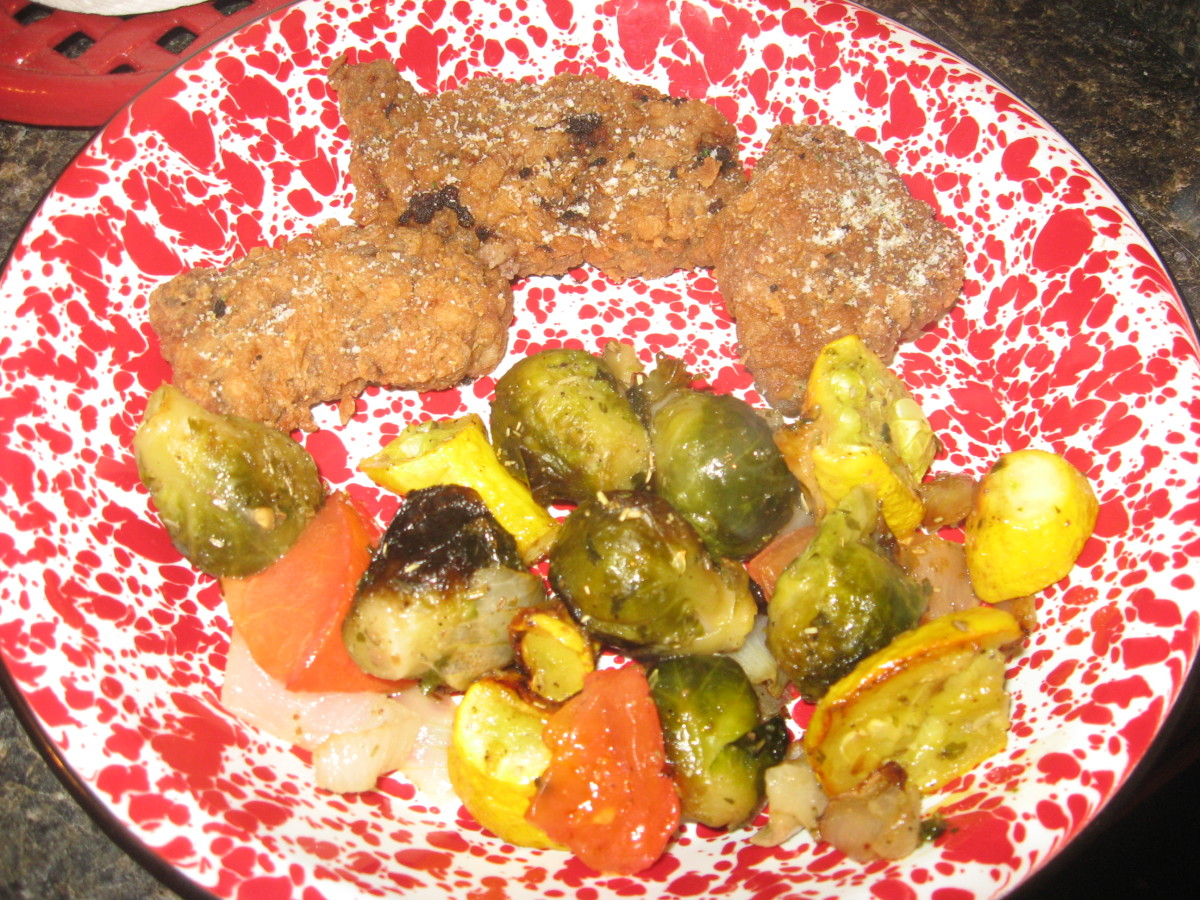 One of my low carb meals: low carb fried steak with roasted vegetables.